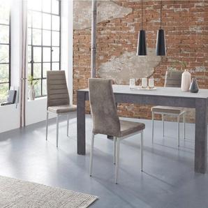 my home Essgruppe »Lynn160/Kate«, (Set, 5-tlg), Tisch mit 4 Stühlen