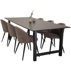 Essgruppe MacGraw mit 6 Stühlen