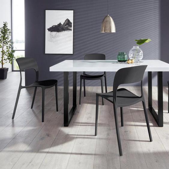 Paroli Essgruppe »Manger/Florian 180«, (Set, 5-tlg), mit 4 Stühlen, Tisch Breite 180 cm