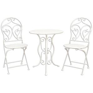 Essgruppe Mayra mit klappbarem Tisch und 2 Stühlen