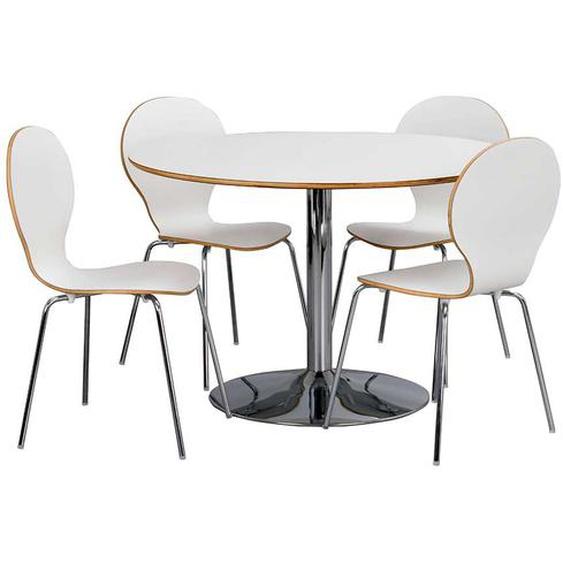 Essgruppe mit rundem Tisch 4 Stühlen (5-teilig)