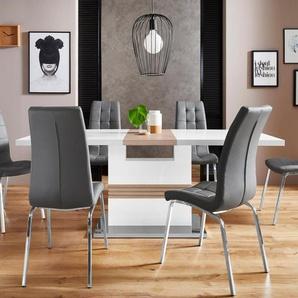Essgruppe »Perez/Lila«, (Set, 5-tlg), mit 4 Stühlen, Tisch ausziehbar, Breite 160-200 cm