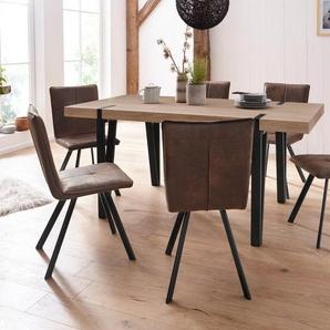 Essgruppe »Sanchez/Parker«, (Set, 5-tlg), Tisch mit 4 Stühlen