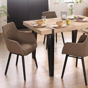 Essgruppe »Sanchez und Bradford«, (Set, 5-tlg), mit Tisch, Breite 150 cm