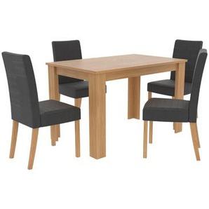 Essgruppe Bishop mit 4 Stühlen