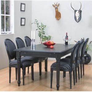 Essgruppe Amaretta mit ausziehbarem Tisch und 6 Stühlen