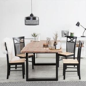 Esstisch Holz braun 200 x 95 cm HEBY