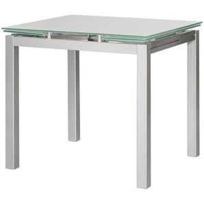 Esstisch Glas-Metall ausziehbar  Emanuel ¦ silber ¦ Maße (cm): B: 75 H: 75 Tische  Esstische  Esstische eckig » Höffner