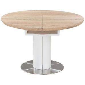 Esstisch rund ausziehbar  Harvey ¦ holzfarben ¦ Maße (cm): H: 76 Ø: [120.0] Tische  Esstische  Esstische rund » Höffner