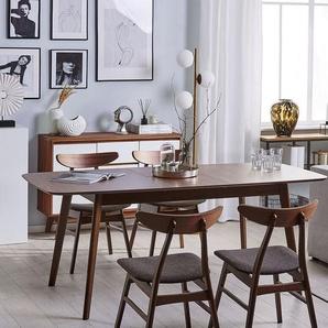 Esstisch dunkler Holzfarbton 150/190 x 90 cm ausziehbar MADOX