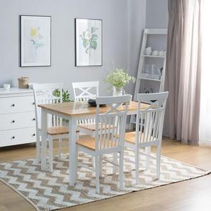 Esstisch Holz weiß 120 x 75 cm HOUSTON