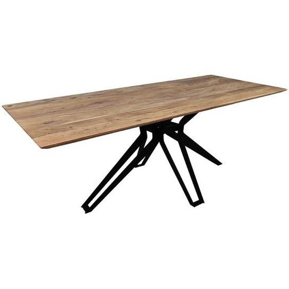 Esstisch im Loft Design Akazie Massivholz und Metall