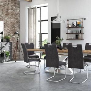 Esstisch »Komfort C« mit X-Gestell in weiß und mit Auszugsfunktion, Breite 160-260 cm