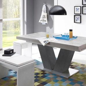 Esstisch »Komfort D«, mit V-Gestell in graphit und mit Auszugsfunktion, Breite 160-260 cm