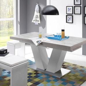 Esstisch »Komfort D«, mit V-Gestell in weiß und mit Auszugsfunktion, Breite 160-260 cm