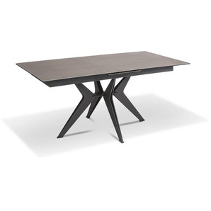 Esstisch mit Auszug, Grau, Keramik 130 cm