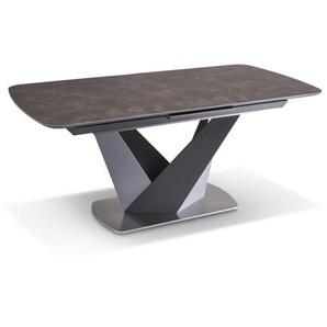 Esstisch mit Auszug, Grau, Keramik