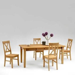 Esstisch mit St�hlen aus Kiefer Massivholz Landhaus (5-teilig)