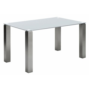 Esstisch »Multitop«, weiß, Material Edelstahl, NIEHOFF SITZMÖBEL