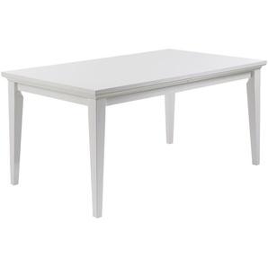 Esstisch Pariso (95x180, weiß, Landhausstil, erweiterbar)