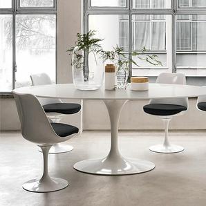 Esstisch Saarinen Tulip Knoll International weiß, Designer Eero Saarinen, 74x198x121 cm