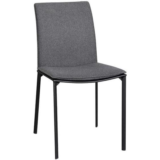 Esstisch Stühle in dunkel Grau Schwarz (2er Set)