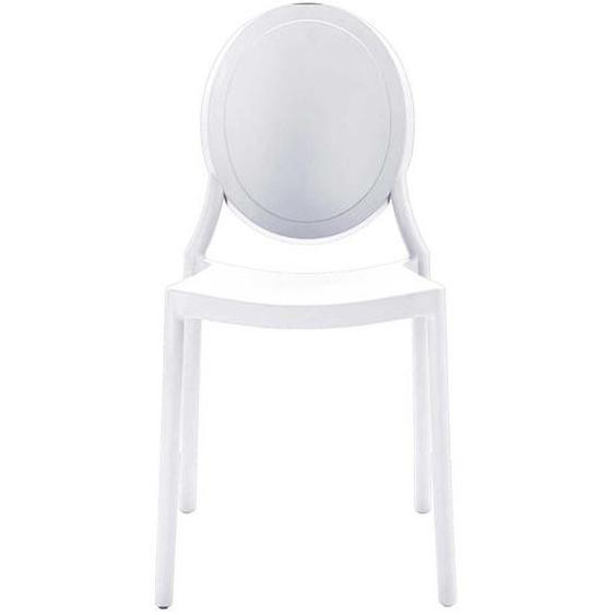 Esstisch Stühle aus Kunststoff Weiß (2er Set)