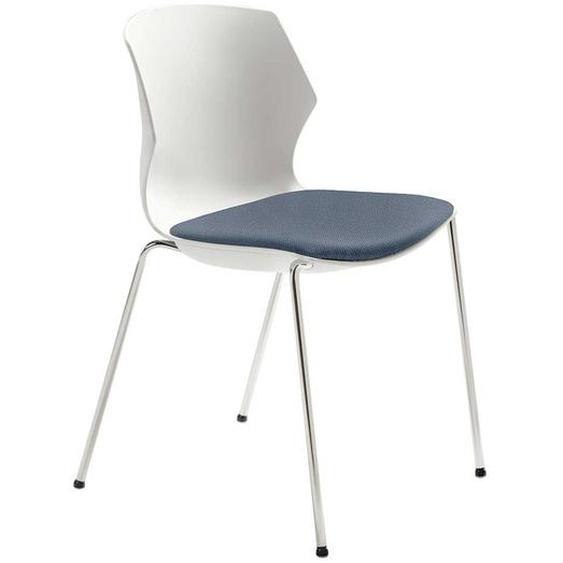 Esstisch Stuhl in Weiß und Blaugrau modern