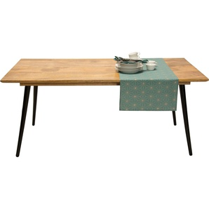 Esstisch, FSC®-zertifiziert, orange, Material Mangoholz »T-SOHO TABLE LARGE«, TOM TAILOR