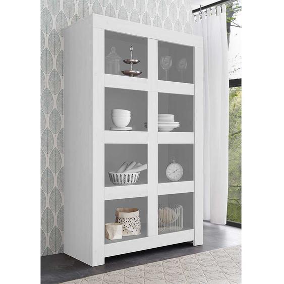 Esszimmer Regal in Weiß lackiert 110 cm breit