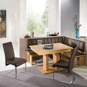 Esszimmer Sitzecke aus Kernbuche Massivholz Braun (4-teilig)