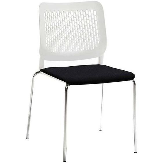 Esszimmer Stuhl in Weiß und Schwarz Kunststoff