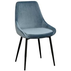 Esszimmer Stuhl Set in Blau und Schwarz modern (2er Set)