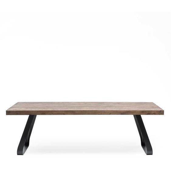 Esszimmer Tisch aus Asteiche Massivholz Bügelgestell aus Metall