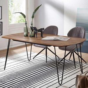 Esszimmer Tisch aus Sheesham Massivholz Metall