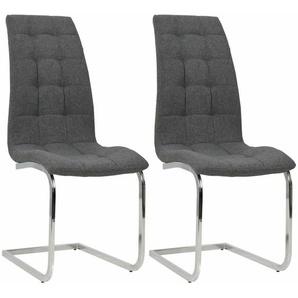 Esszimmerstühle 2 Stk. Stoff 42,5×61×104,5 cm Dunkelgrau - VIDAXL