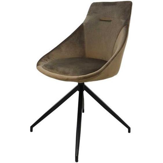 Esszimmerstühle in Olivgrün Samt drehbar (2er Set)