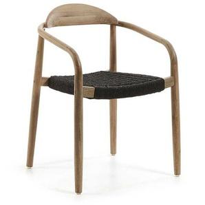 Esszimmerstuhl aus Eukalyptusholz Armlehnen (4er Set)