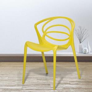 Esszimmerstuhl gelb BEND