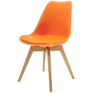 Esszimmerstuhl in Orange Retro Style (2er Set)