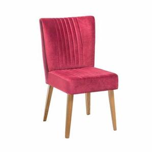 Esszimmerstuhl in Pink Stoff Retro