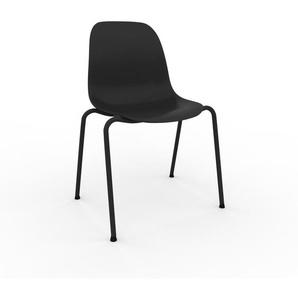 Esszimmerstuhl in Schwarz 49 x 82 x 57 cm einzigartiges Design, konfigurierbar