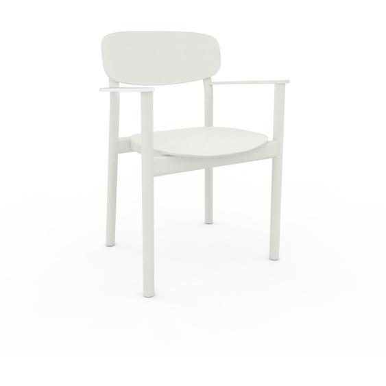 Esszimmerstuhl in Weiß 52 x 82 x 58 cm einzigartiges Design, konfigurierbar