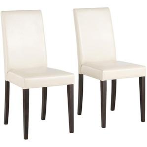 Home affaire 2er-Set Esszimmerstühle der Marke beige, Beine: kolonialfarben, »Lucca«, FSC®-zertifiziert