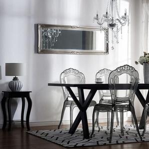 Esszimmerstuhl transparent schwarz 2er Set VERMONT