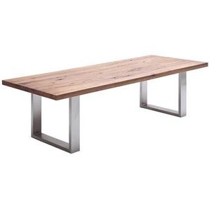 Esszimmertisch aus Eiche Massivholz Bügelgestell