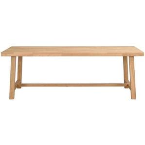 Esszimmertisch aus Eiche Massivholz geb�rstet und lackiert