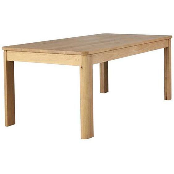 Esszimmertisch aus Wildeiche Massivholz 100 cm tief