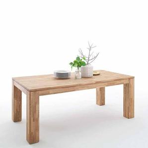 Esszimmertisch aus Wildeiche Massivholz mit Auszug