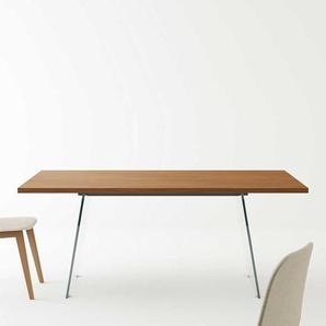 Esszimmertisch mit Glaswangen Buche Sperrholz Tischplatte